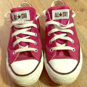 Women's pink sparkly sneakers